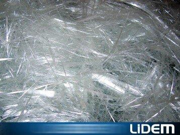 Cutter shredder for fibreglass, carbon, Kevlar and mineral fibres