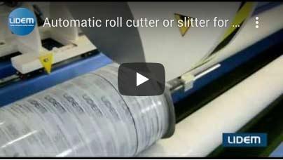 Automatic roll cutter-roll slitter