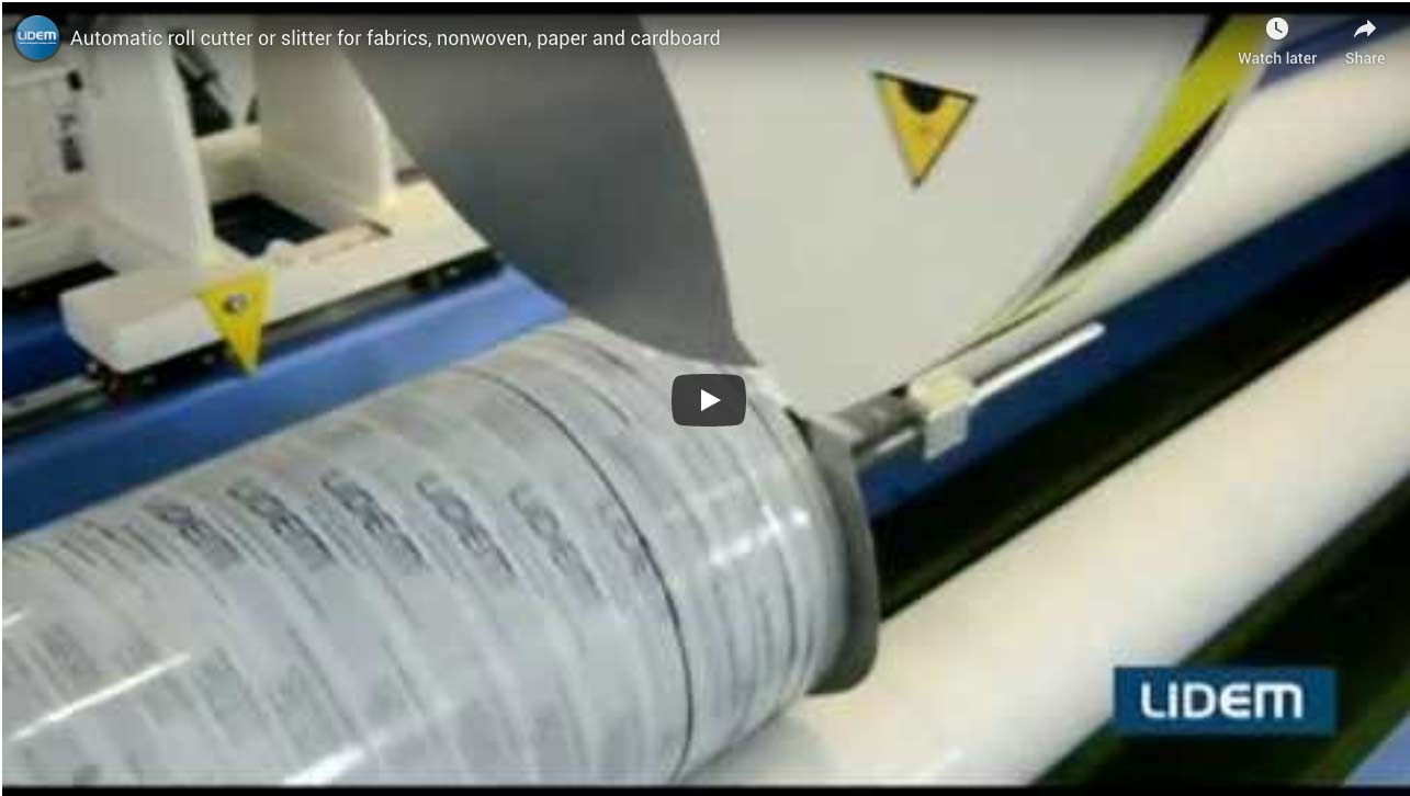 Some videos of Automatic roll slitter