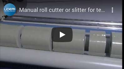 Manual roll cutting or slitting for textiles