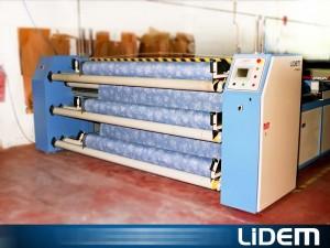 Máquina extendedora cortadora para tejidos no elásticos